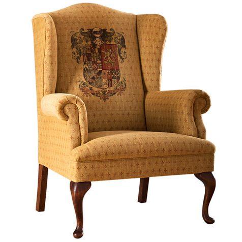 Кресло Louis обтянуто тканью Hines of Oxford, James Brookman