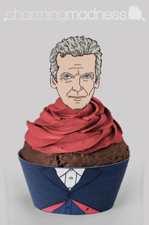Twelfth Doctor Inspired Cupcake Wrappers & by CharmingMadness