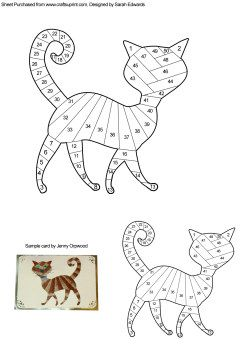 Home : Iris Folding : Animals : Cat Iris Folding Pattern More