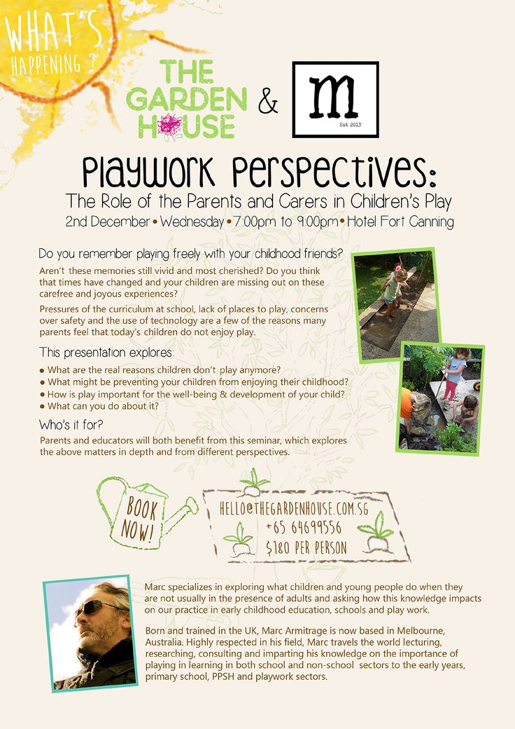 Workshop: Playwork Respectives - The role of the parents and carers in  children's play This