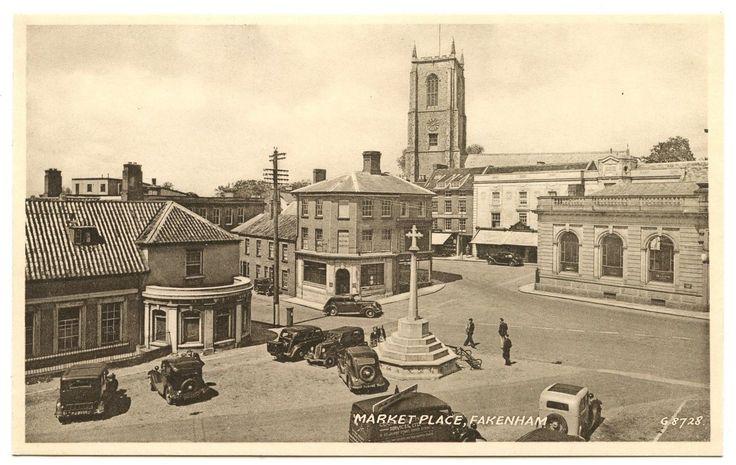 Old Rare Postcard Market Place Fakenham Norfolk Unused (Ref: AJ931) | eBay