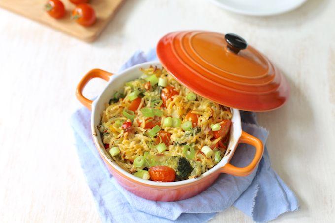 Pasta-ovenschotel met broccoli