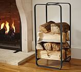Industrial Fireplace Small Log Holder