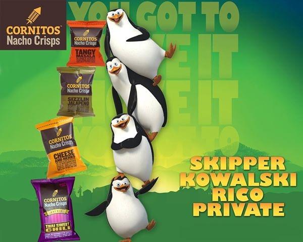 Kowalski: It's yummy Skipper.. Rico: Is it healthy? Private: Which CORNITOS! nachos flavour is the best? Skipper Skipper: _______ What did skipper say?