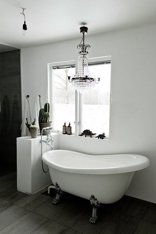 Bathroom Tub Chandeliers 19 best stephanie bath images on pinterest | home, dream bathrooms