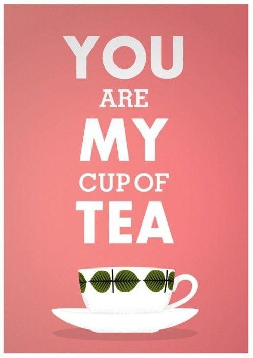 Tea Print, Love print, Valentines gift, Kitchen art, Tea quote print, pink quote…