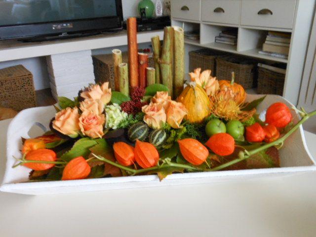 Herfst bloemstuk creatief in huis pinterest herfst for Huis inrichten op schaal
