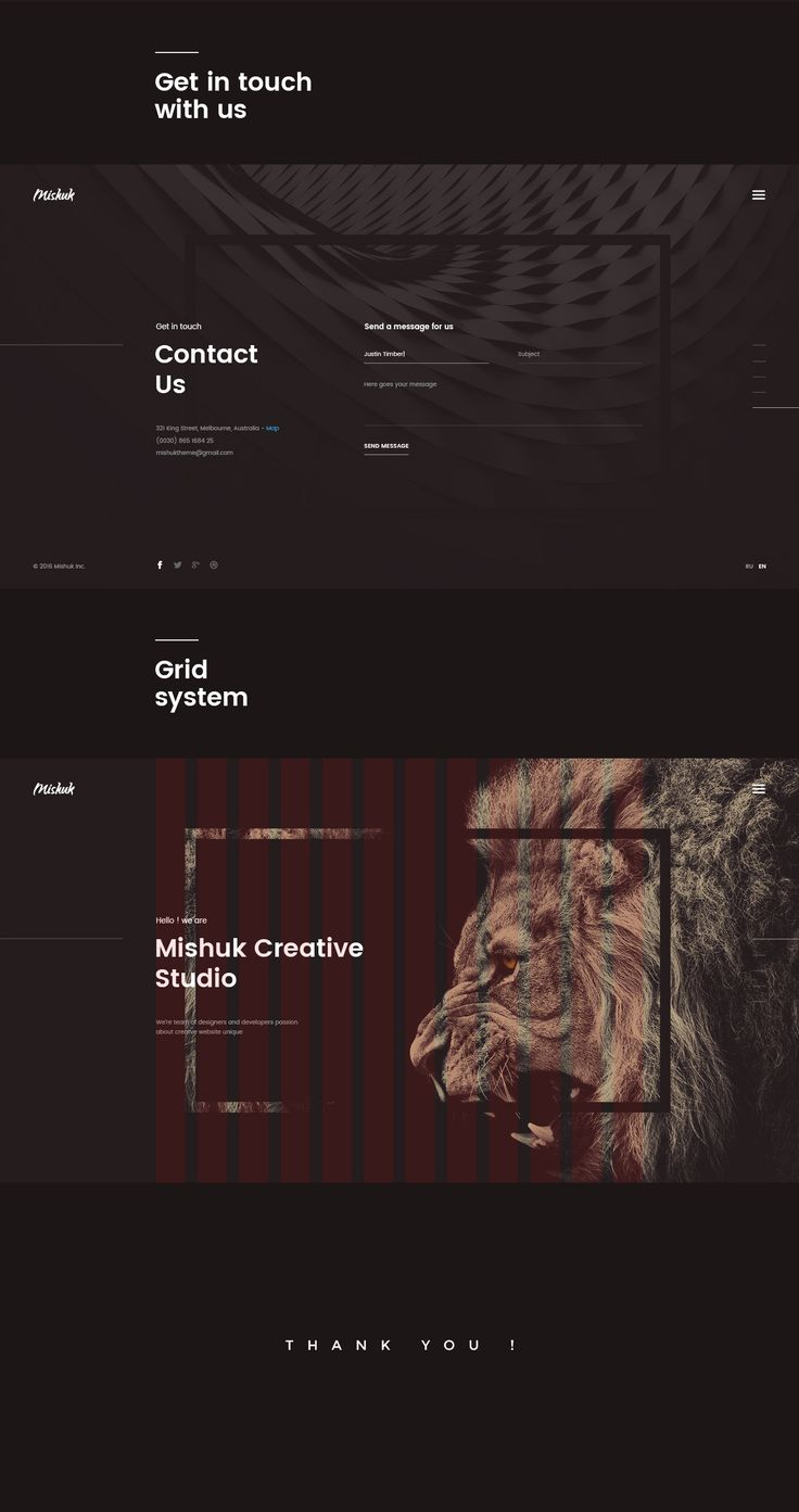 Mishuk - Creative Studio with parallax scroll effect