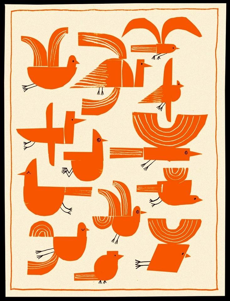 Rob Hodgson bird poster