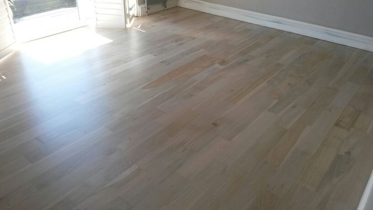 White stained oak