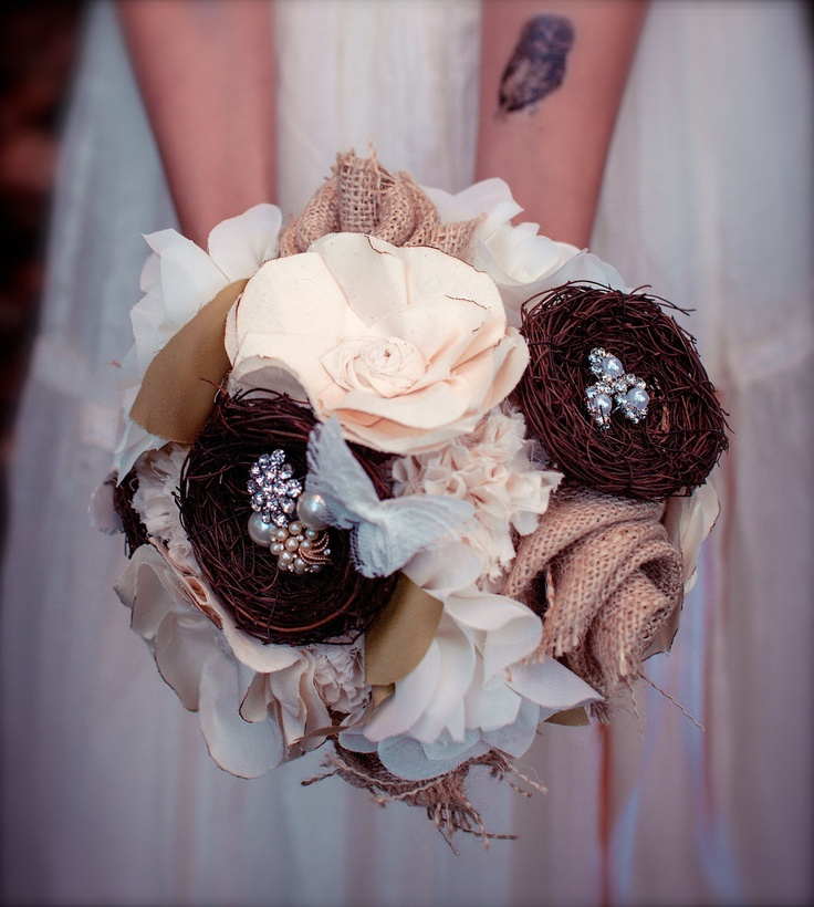how to make a crochet bridal bouquet