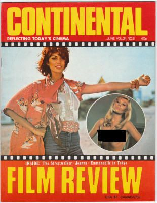 """Continental Film Review #296 (Volume 24, No. 8): June 1977, VF/NM, Olivia Pascal from """"The Fruit Is Ripe"""" on cover, $28"""