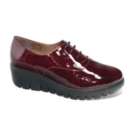 Suave Zapatos de Cordones de Otra Piel Para Mujer Gris Graphite/Reptile TN0sa6Zso