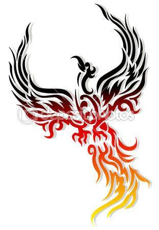 Tattoo Mythical phoenix bird
