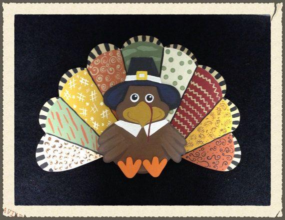 Turkey Wooden Door Hanger Thanksgiving Turkey Door Hanger