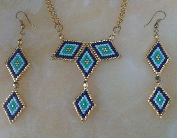 Hey, I found this really awesome Etsy listing at https://www.etsy.com/listing/273248930/peyote-necklace-earring-beaded-necklace