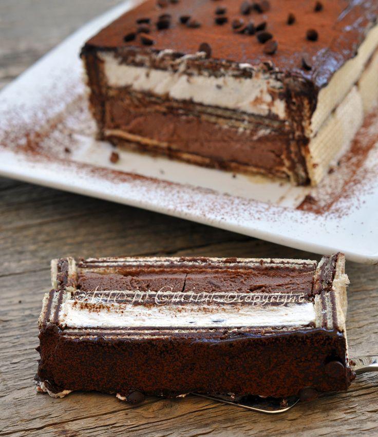 Mattonella fredda con wafer ricotta e cioccolato vickyart