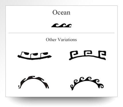 Variation of the Ocean symbol as depicted on Atelier Leseine Tahitian carved black pearls.