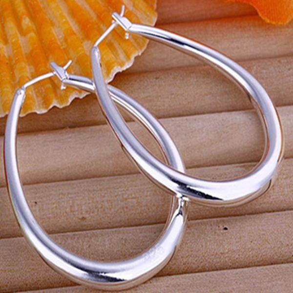 Бесплатная Доставка 10 Pairs Низкие Оптовые Серебряные серьги, женские Серьги-Подвески Большой U Серьги