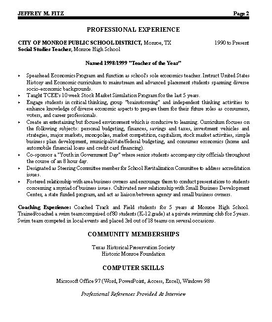 Civic Leader Political Resume Examples Resume