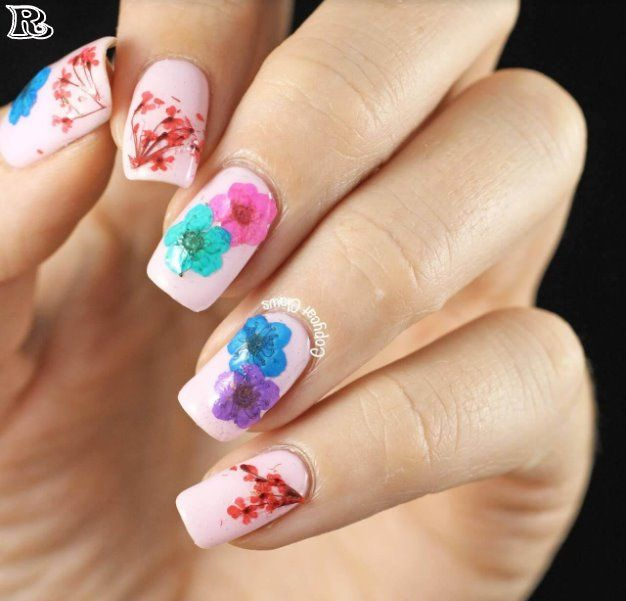 Flowers Nail Art New Idea For Spring With Images Pretty Nail