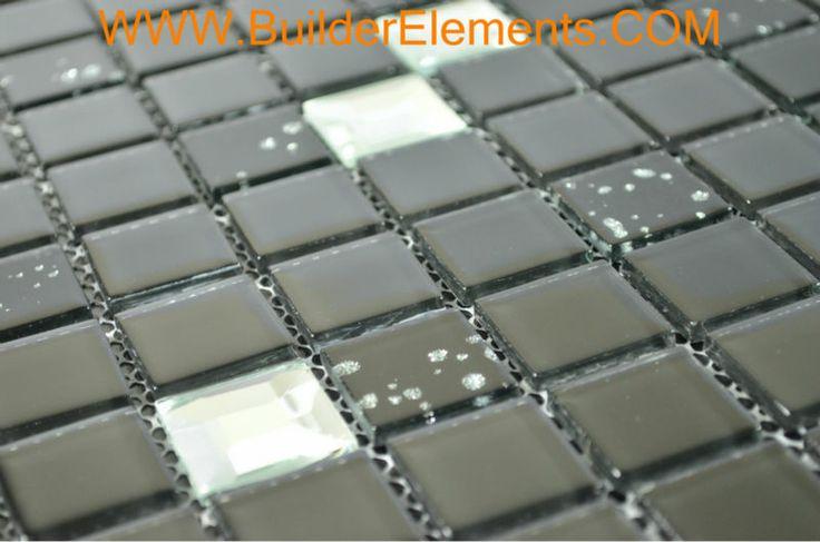 Home elementi in cristallo piastrelle- piastrelle di mosaico di vetro, specchio mosaico di vetro, piastrelle di vetro diamante cob0079