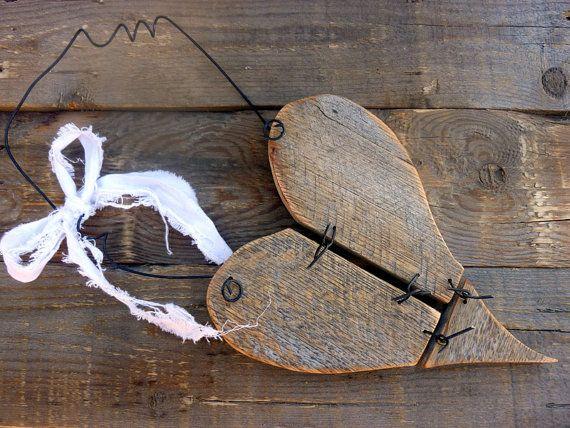 lovely worn wood heart