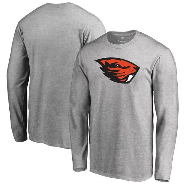 Oregon State Beavers Big & Tall Primary Logo Long Sleeve T-Shirt - Heather Gray - $29.99