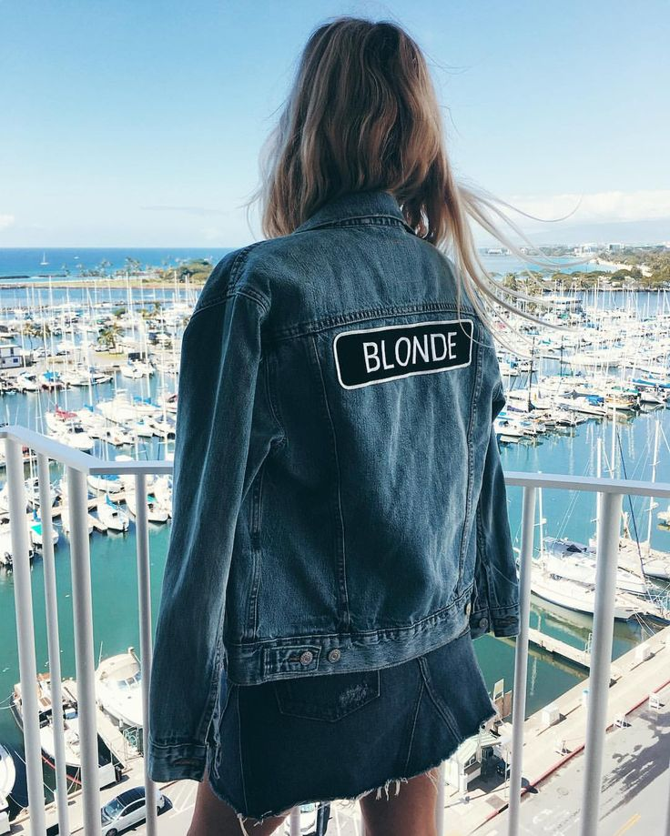 The Salty Blonde looking gorgeous in Brunette The Label rocker jacket.
