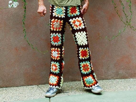 ... Stuff, Granny Square Pants, Funky Pants, Crochet Pants, Granny Squares