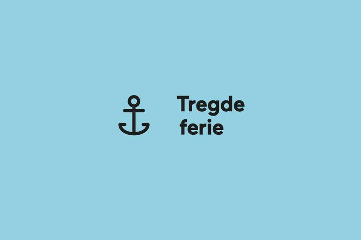 Logo designed by Neue for Norwegian coastal holiday resort Tregde Ferie