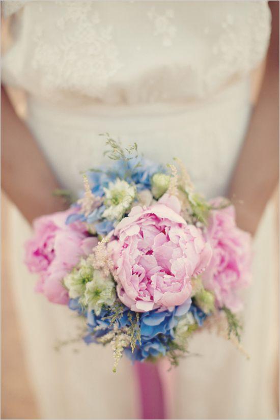 Pink wedding bouquet. Captured By: Anne-Claire Brun ---> http://www.weddingchicks.com/2014/06/05/vintage-chic-french-wedding/