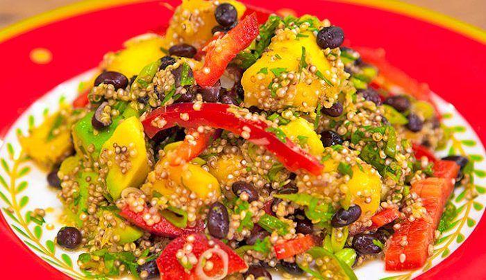 Quinoa, Mango & Black Bean Salad - Good Chef Bad Chef