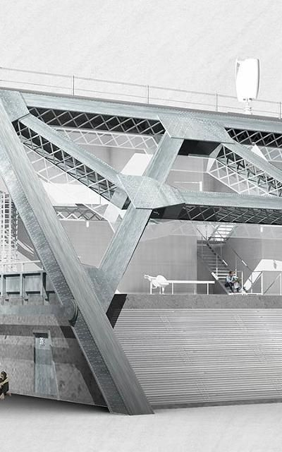 A Bridge-Shaped House Recycled From Giant Scraps Of The Old Bay Bridge