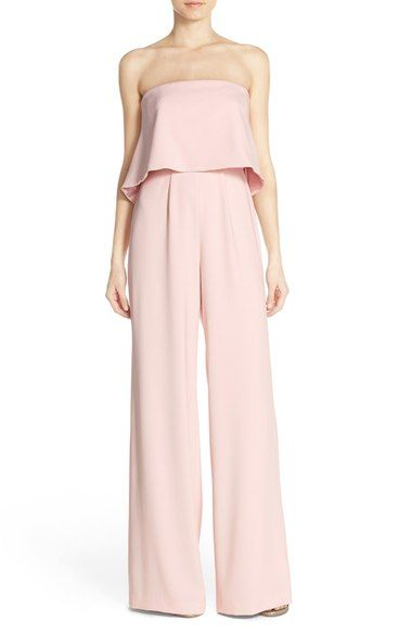 Jay Godfrey Strapless Popover Crepe Jumpsuit available at #Nordstrom