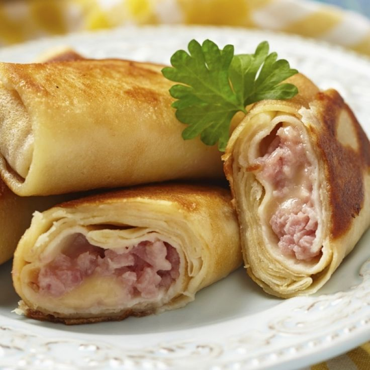 Ham And Cheese Crepes Recipe from Grandmother's Kitchen