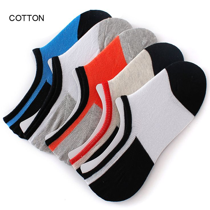 10 Pairs/ Lot New Business Casual Men Summer Short Tube Cotton Socks Double Colors Short Shallow Mouth Invisible Silica Gel Sock