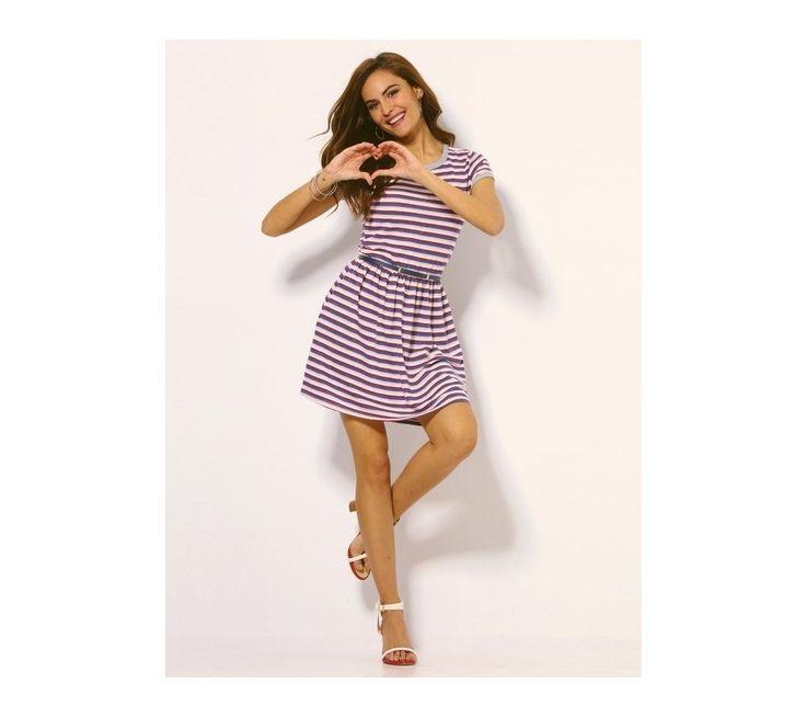 Prúžkované meltonové šaty | vypredaj-zlavy.sk #vypredajzlavy #vypredajzlavysk #vypredajzlavy_sk #saty