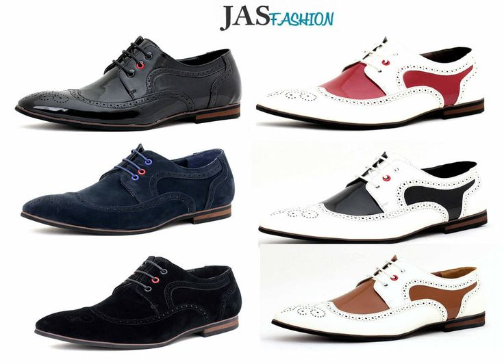 Mens Smart Casual Shoes Wedding Office Suede Formal Party Work Brogues Size 6-11
