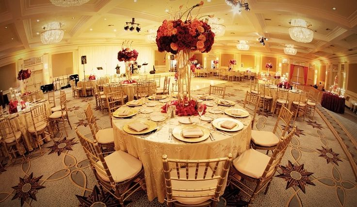 Red And Gold Tablescape Champagne Red Wedding Burgundy