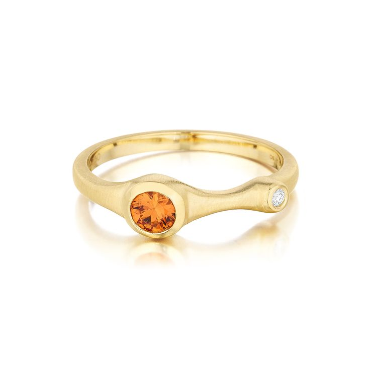Carelle Jewelry - Orange Sapphire and Diamond Stack Ring, $750 (http://www.carelle.com/orange-sapphire-and-diamond-stack-ring/)