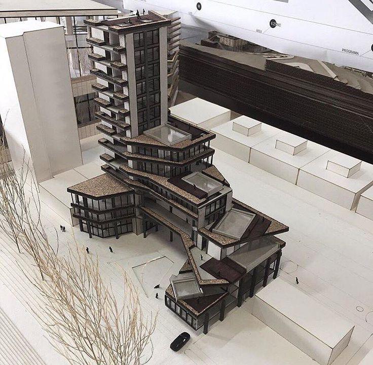Hibrid Building Model ❤ #arch_impressive By: @arq.models Follow @arch_impressive for more ..