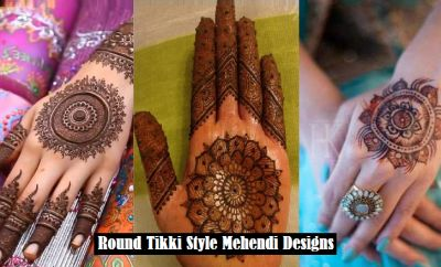 Here is a fantastic collection of best and most beautiful #Gol_tikki_mehndi designs. This article contains pictures of latest #round_Tikka_Mehndi styles.
