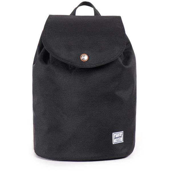 Herschel Supply Women's Reid Small Backpack - Black ($55) ❤ liked on Polyvore featuring bags, backpacks, black, drawstring bag, stripe backpack, zip bags, striped bag and day pack backpack