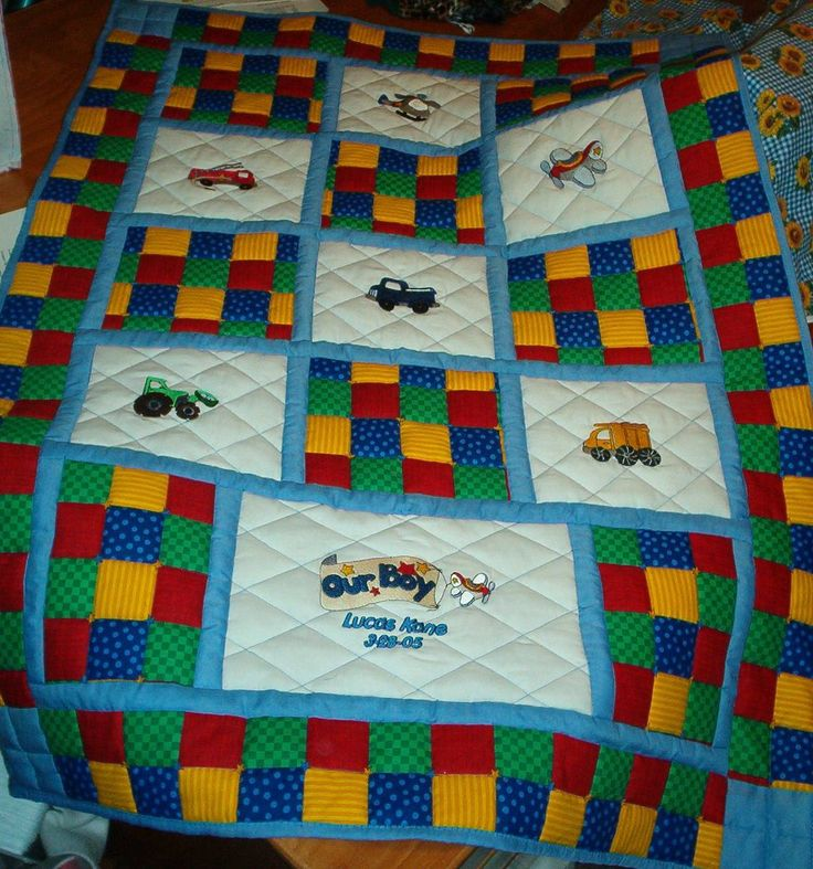 Baby Boy Quilt | Baby- Quilts-Etc. By Wishbone Lane Embroidery | Quilts | Pinterest | Quilt ...