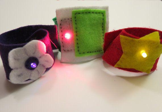 LED cuff bracelet kit by bitwiseEtextiles on Etsy