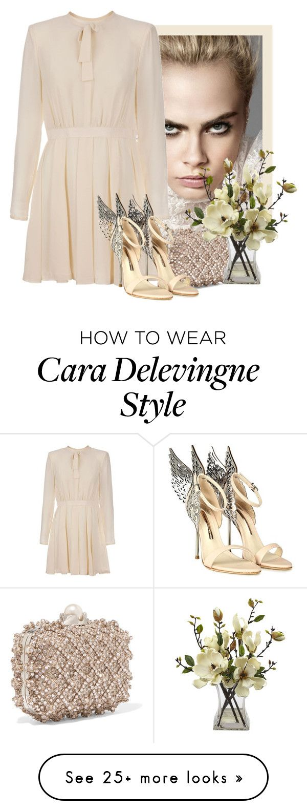 """Cara"" by flordemaria on Polyvore featuring By Terry, Giambattista Valli, Jimmy Choo, Nearly Natural and Sophia Webster"