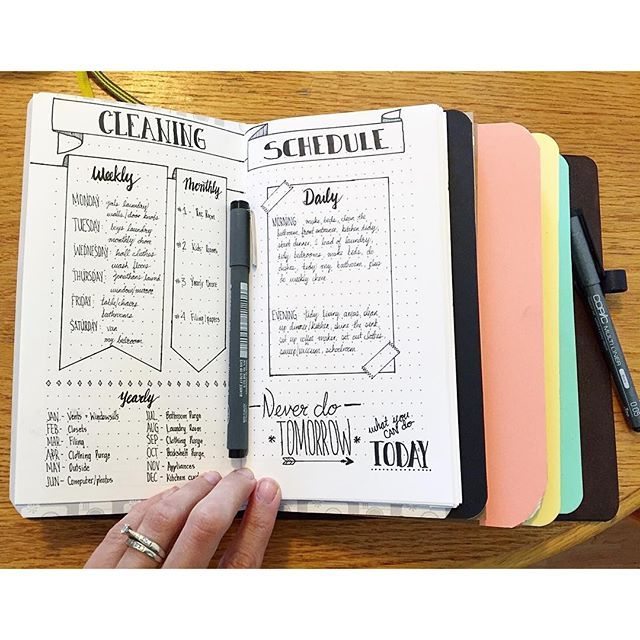 Transferring over my cleaning schedule to my new collections insert in my #travelersnotebook. I think I like it even better the second time around! I love these smaller booklets. | bujo | bullet journal | journaling | bullet journaling | bullet journal junkies | bullet journal junkie | bujo junkies | bujo junkie | planner | planner girl | hip homeschooling | hip homeschooling blog |