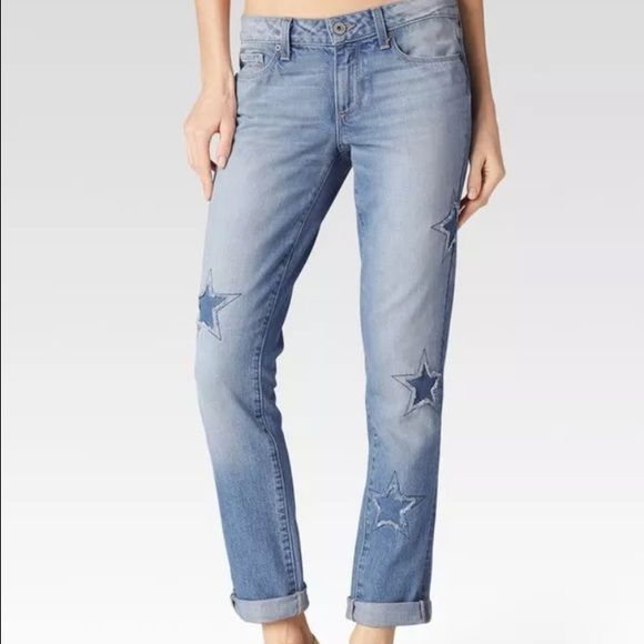 Paige Jimmy Jimmy Skinny Star Patch Jeans new with tag; no M, yes PP Aritzia Jeans Boyfriend