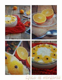 Souflé helado de naranja